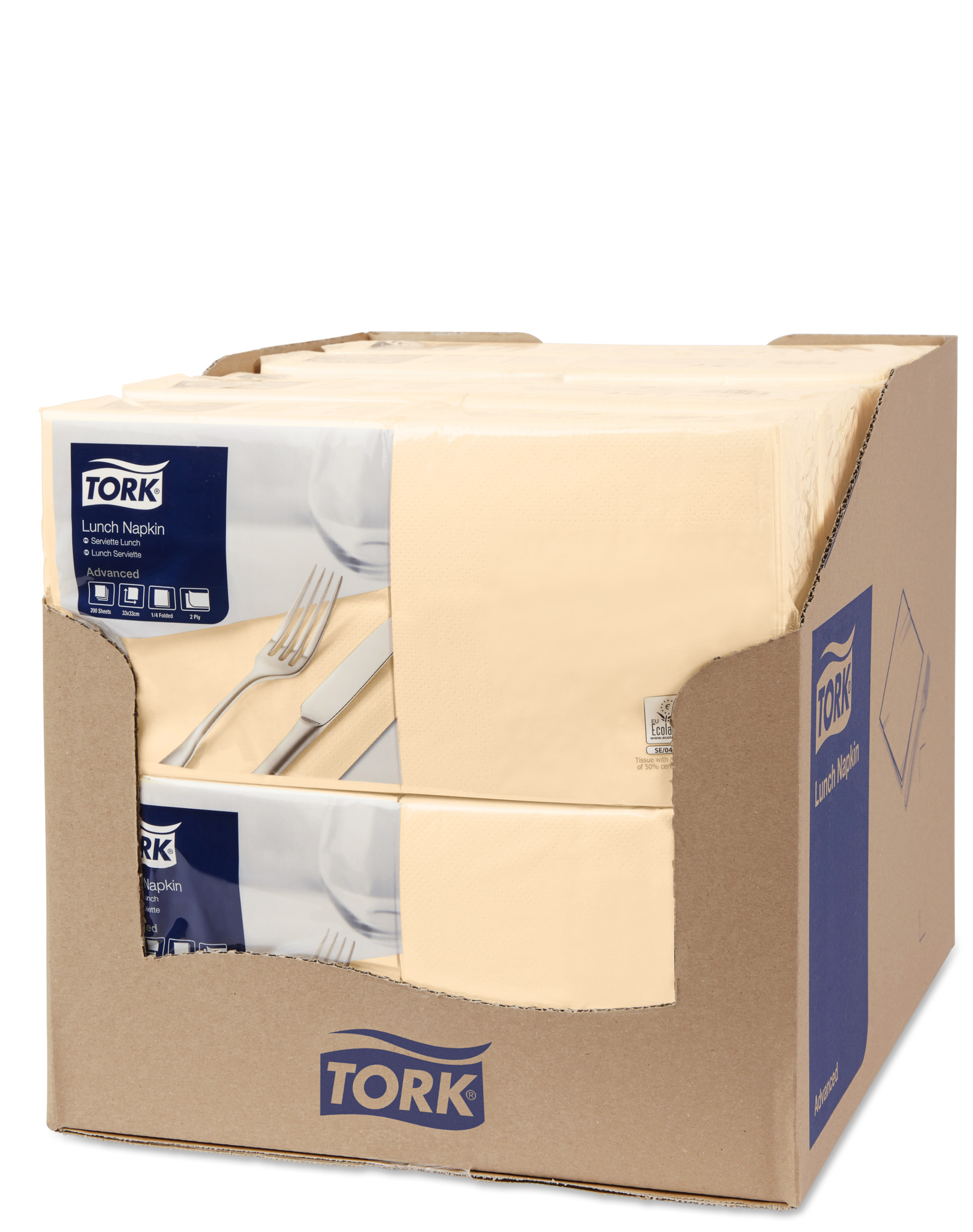 Салфетки TORK Advanced 33х33см, 2слоя, песочные/477206